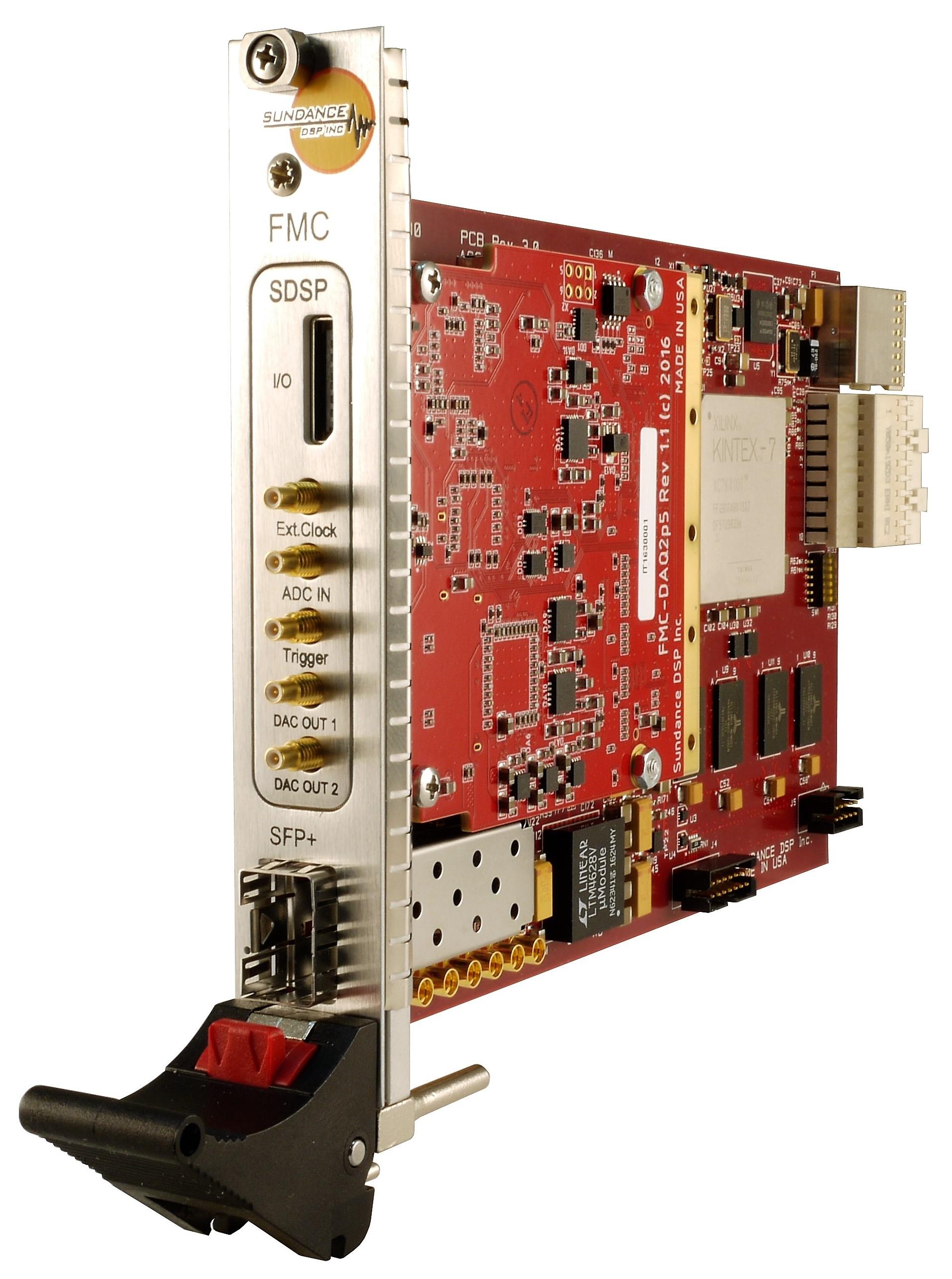 Sundance Technology | pi827 - PXIe card – 1 ch  ADC & 2 ch  DAC